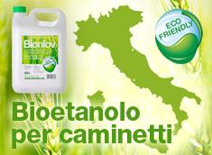 Bioetanolo per biocamini